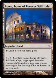 Rome home of Forever Still Italy
